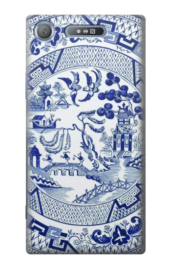 Printed Willow Pattern Illustration Sony Xperia E3 Case