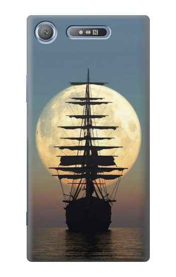 Printed Pirate Ship Moon Night Sony Xperia E3 Case