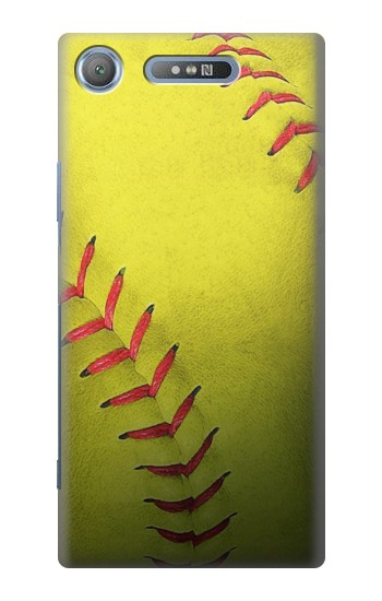 Printed Yellow Softball Ball Sony Xperia E3 Case