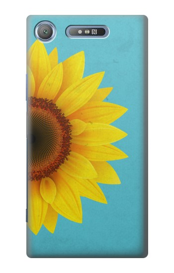 Printed Vintage Sunflower Blue Sony Xperia E3 Case