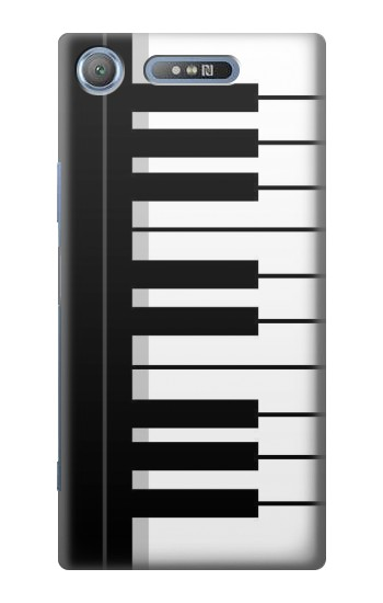 Printed Black and White Piano Keyboard Sony Xperia E3 Case