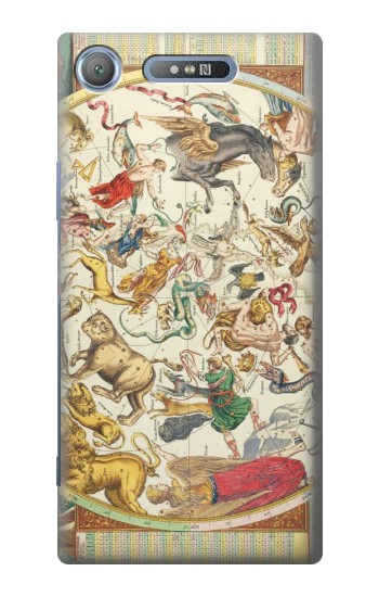 Printed Antique Constellation Map Sony Xperia E3 Case
