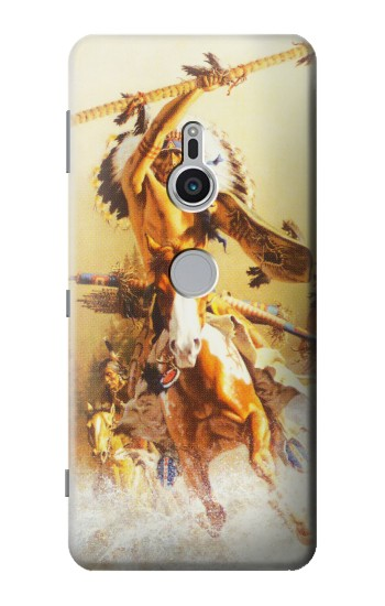 Printed Red Indian Warrior Sony Xperia XZ2 Case