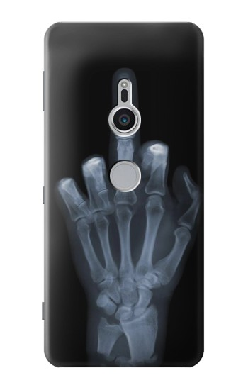 Printed X-ray Hand Middle Finger Sony Xperia XZ2 Case