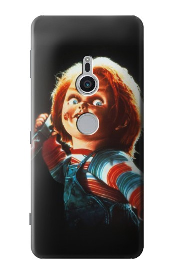 Printed Chucky With Knife Sony Xperia XZ2 Case