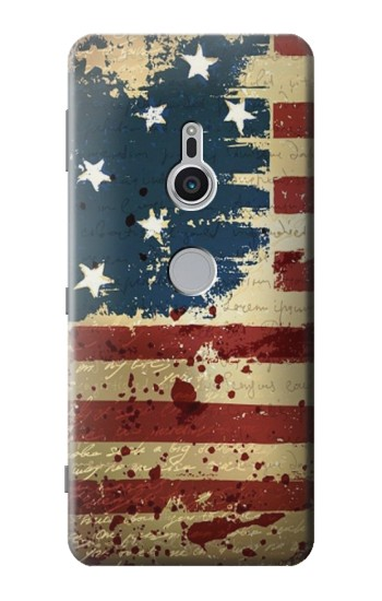Printed Old American Flag Sony Xperia XZ2 Case