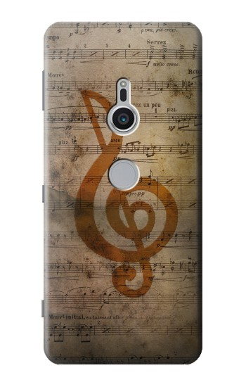 Printed Sheet Music Notes Sony Xperia XZ2 Case