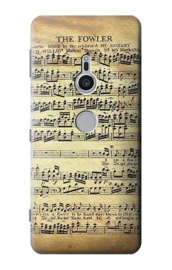 Printed The Fowler Mozart Music Sheet Sony Xperia XZ2 Case