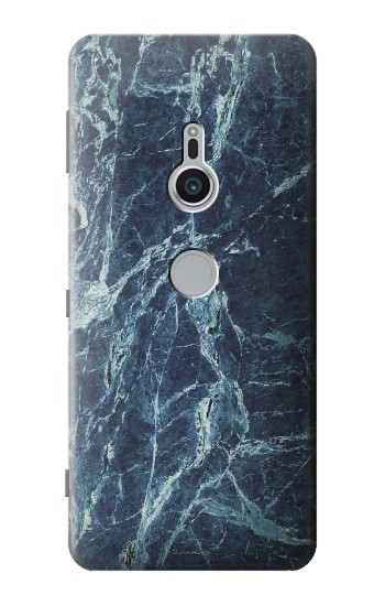 Printed Light Blue Marble Stone Texture Printed Sony Xperia XZ2 Case