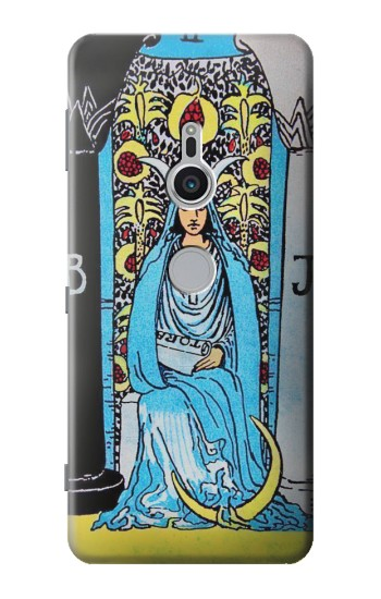 Printed The High Priestess Vintage Tarot Card Sony Xperia XZ2 Case