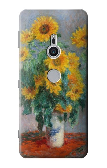 Printed Claude Monet Bouquet of Sunflowers Sony Xperia XZ2 Case