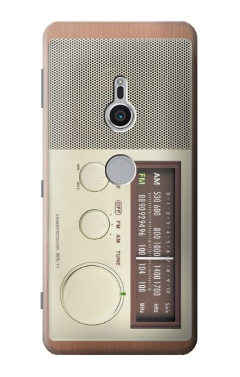 Printed FM AM Wooden Receiver Graphic Sony Xperia XZ2 Case