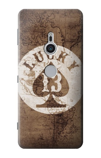Printed Lucky 13 Old Map Sony Xperia XZ2 Case