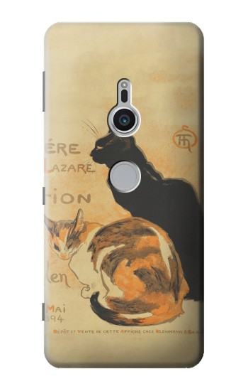 Printed Vintage Cat Poster Sony Xperia XZ2 Case