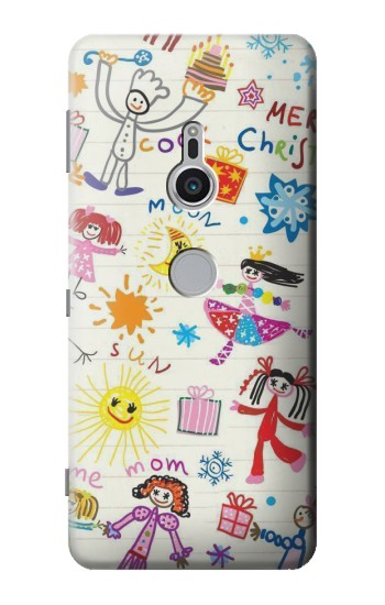 Printed Kids Drawing Sony Xperia XZ2 Case