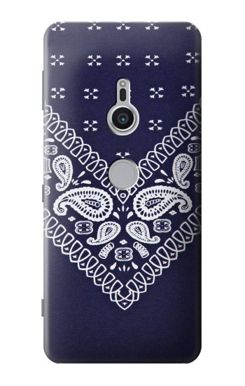 Printed Navy Blue Bandana Pattern Sony Xperia XZ2 Case