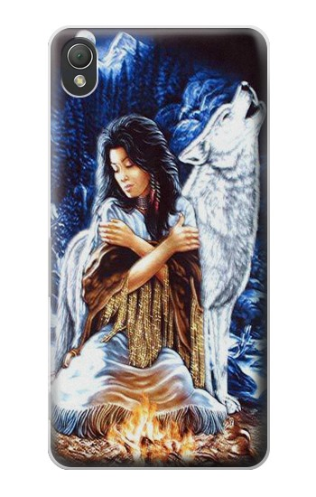 Printed Grim Wolf Indian Girl Sony Xperia Z3 Case