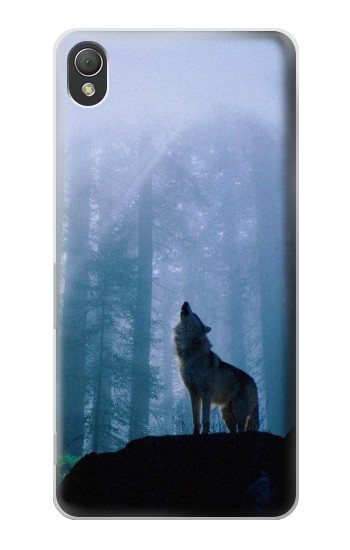 Printed Wolf Howling in Forest Sony Xperia Z3 Case