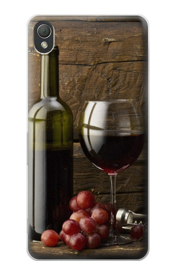 Printed Grapes Bottle and Glass of Red Wine Sony Xperia Z3 Case