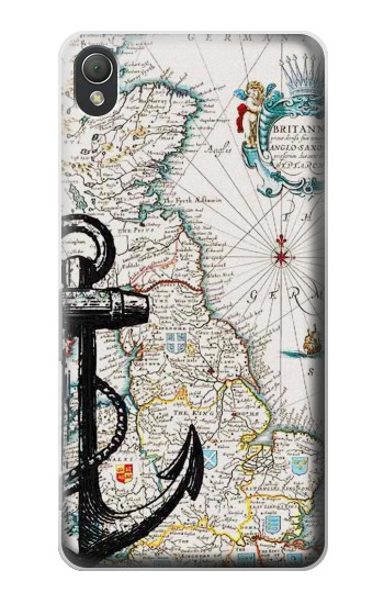 Printed Nautical Chart Sony Xperia Z3 Case