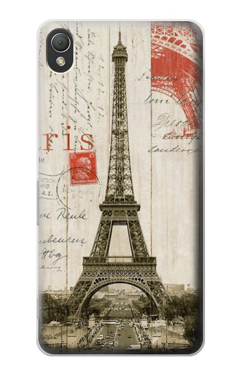 Printed Eiffel Tower Paris Postcard Sony Xperia Z3 Case