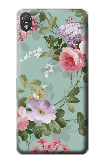 Printed Flower Floral Art Painting Sony Xperia Z3 Case