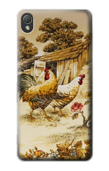 Printed French Country Chicken Sony Xperia Z3 Case