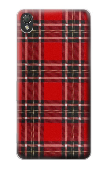 Printed Tartan Red Pattern Sony Xperia Z3 Case