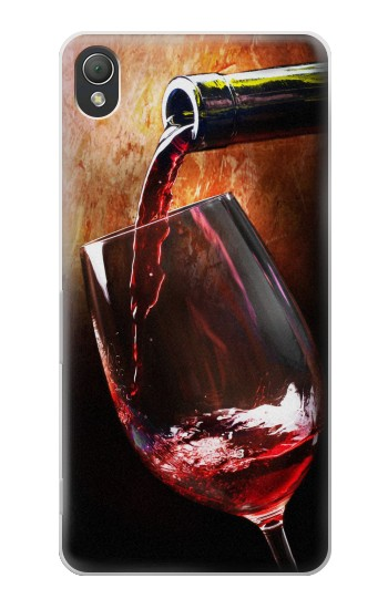 Printed Red Wine Bottle And Glass Sony Xperia Z3 Case