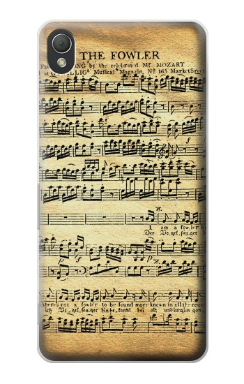 Printed The Fowler Mozart Music Sheet Sony Xperia Z3 Case
