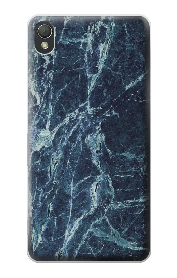 Printed Light Blue Marble Stone Texture Printed Sony Xperia Z3 Case