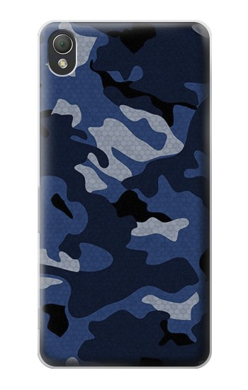 Printed Navy Blue Camouflage Sony Xperia Z3 Case