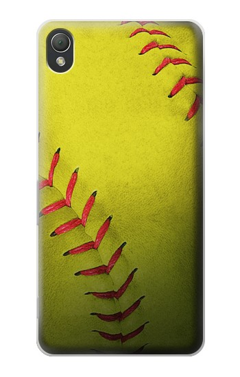 Printed Yellow Softball Ball Sony Xperia Z3 Case
