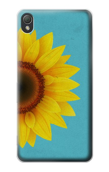 Printed Vintage Sunflower Blue Sony Xperia Z3 Case
