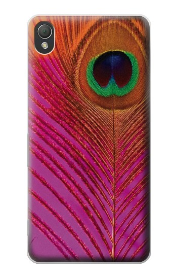 Printed Pink Peacock Feather Sony Xperia Z3 Case