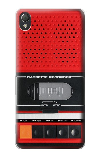 Printed Red Cassette Recorder Graphic Sony Xperia Z3 Case