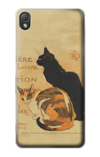 Printed Vintage Cat Poster Sony Xperia Z3 Case