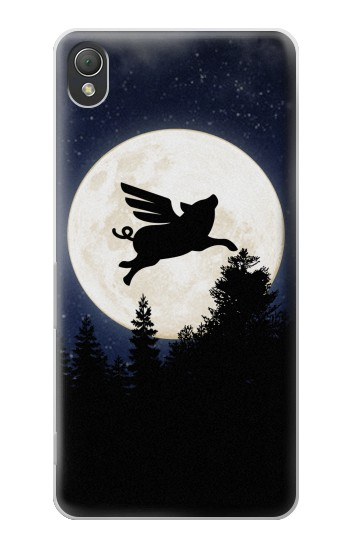 Printed Flying Pig Full Moon Night Sony Xperia Z3 Case
