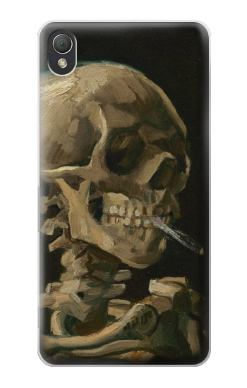 Printed Vincent Van Gogh Head Skeleton Cigarette Sony Xperia Z3 Case