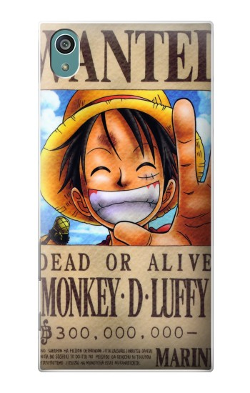Printed One Piece Monkey D Luffy Wanted Poster Sony Xperia Z5 Case