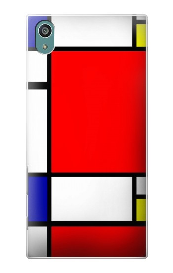 Printed Composition Red Blue Yellow Sony Xperia Z5 Case