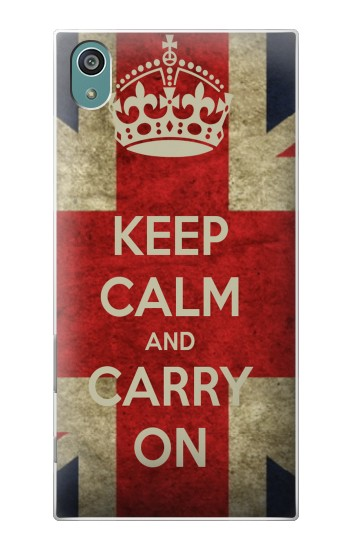 Printed Keep Calm and Carry On Sony Xperia Z5 Case