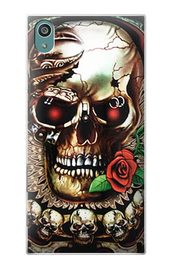 Printed Skull Wing Rose Punk Sony Xperia Z5 Case