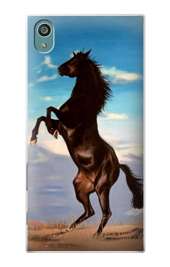 Printed Wild Black Horse Sony Xperia Z5 Case