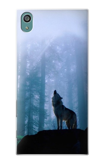 Printed Wolf Howling in Forest Sony Xperia Z5 Case
