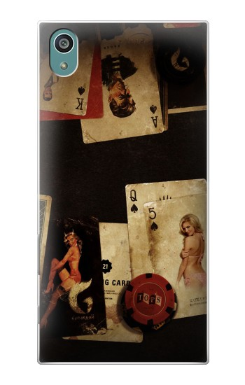 Printed Old Vintage Sexy Poker Sony Xperia Z5 Case