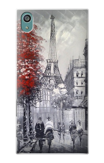 Printed Eiffel Painting of Paris Sony Xperia Z5 Case