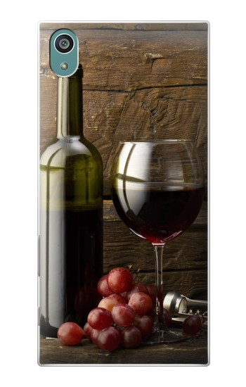 Printed Grapes Bottle and Glass of Red Wine Sony Xperia Z5 Case