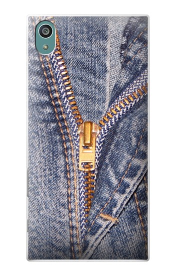 Printed Jeans Zip Graphic Printed Sony Xperia Z5 Case