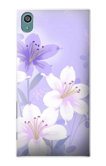 Printed Purple White Flowers Sony Xperia Z5 Case